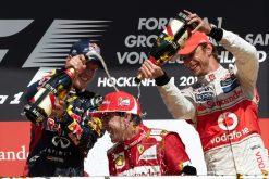 Foto Poster Fernando Alonso op het Podium F1 GP Duitsland 2012