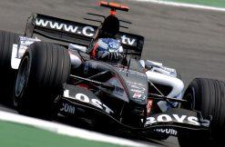Foto Poster Robert Doornbos tijdens de GP van Duitsland, F1 Minardi Team 2005