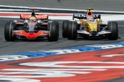 Foto Poster Lewis Hamilton tijdens de GP van Duitsland, F1 McLaren Team 2008