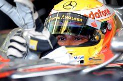 Foto Poster Lewis Hamilton tijdens de GP van Hongarije, F1 McLaren Team 2010