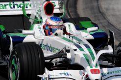 Foto Poster Jenson Button tijdens de GP van Hongarije, F1 Honda Racing Team 2008