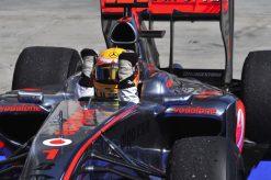 Foto Poster Lewis Hamilton tijdens de GP van Hongarije, F1 McLaren Team 2009