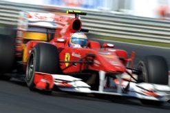 Foto Poster Fernando Alonso in actie tijdens de F1 GP Hongarije 2010