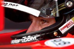 Foto Poster Christijan Albers Helm shot tijdens de GP van San Marino, F1 Midland Team 2006