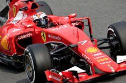 Kimi Raikkonen in actie tijdens de Grand Prix van Italie 2015