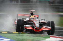 Foto Poster Lewis Hamilton tijdens de GP van Italie, F1 McLaren Team 2008