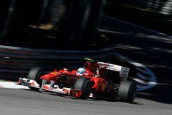 Foto Poster Fernando Alonso in actie tijdens de F1 GP Italie 2010