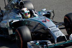 Foto Poster Lewis Hamilton tijdens de GP van Italie, F1 Team Mercedes 2014