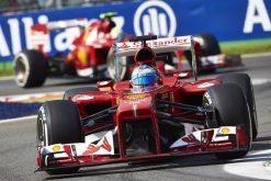 Foto Poster Fernando Alonso in actie tijdens de F1 GP Italie 2013