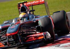 Foto Poster Lewis Hamilton tijdens de GP van Italie, F1 McLaren Team 2010