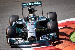 Foto Poster Lewis Hamilton tijdens de GP van Italie, F1 Mercedes Team 2014