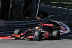 Foto Poster Lewis Hamilton tijdens de GP van Italie, F1 McLaren Team 2009