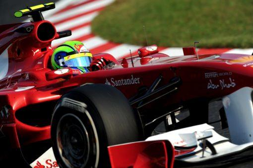 Foto Poster Felipe Massa in actie, F1 Ferrari Team 2011