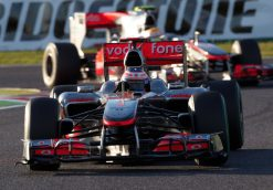 Foto Poster Jenson Button tijdens de GP van Japan, F1 McLaren Team 2010