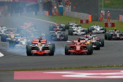 Foto Poster Lewis Hamilton tijdens de GP van Japan, F1 McLaren Team 2008
