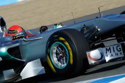 Foto Poster Michael Schumacher in Actie, F1 Mercedes Team 2011