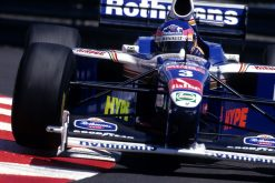 Foto Poster Jacques Villeneuve in actie tijdens de GP van Monaco, F1 Williams Team 1997