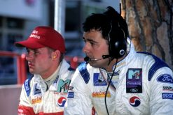 Foto Poster Jos Verstappen tijdens de GP van Monaco, F1 Simtek Team 1995
