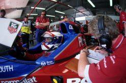 Foto Poster Jos Verstappen tijdens de GP van Engeland, F1 Arrows Team 1996