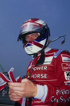 Foto Poster Jos Verstappen tijdens de GP van Duitsland, F1 Arrows Team 1996