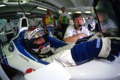 Foto Poster Jos Verstappen tijdens de GP van Frankrijk, F1 Stewart Team 1998