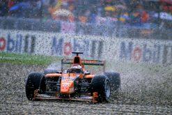 Foto Poster Jos Verstappen tijdens de GP van Duitsland, F1 Arrows Team 2000
