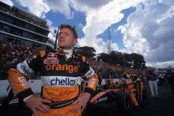 Foto Poster Jos Verstappen tijdens de GP van Brazilie, F1 Arrows Team 2001