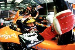 Foto Poster Jos Verstappen tijdens de GP van Engeland, F1 Arrows Team 2000