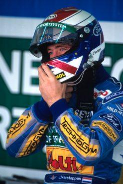 Foto Poster Jos Verstappen tijdens de GP van Brazilie, F1 Benetton Team 1994
