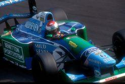 Foto Poster Jos Verstappen tijdens de GP van Italie, F1 Benetton Team 1994