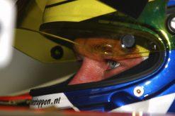 Foto Poster Jos Verstappen tijdens de GP van Hongarije, F1 Minardi Team 2003