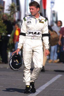 Foto Poster Jos Verstappen tijdens de GP van Hongarije, F1 Tyrrell Team 1997