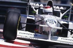 Foto Poster Jos Verstappen tijdens de GP van Monaco, F1 Tyrrell Team 1997