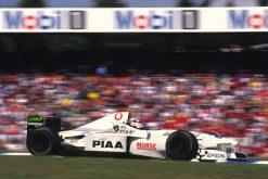 Foto Poster Jos Verstappen tijdens de GP van Duitsland, F1 Tyrrell Team 1997