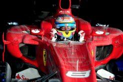 Foto Poster Fernando Alonso tijdens de F1 GP Zuid-Korea 2010