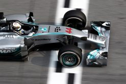 Foto Poster Lewis Hamilton tijdens de GP van Maleisie, F1 Mercedes Team 2014