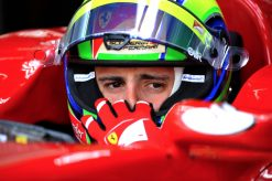 Foto Poster Felipe Massa Helm Shot, F1 Ferrari Team 2011