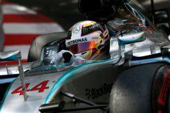Foto Poster Lewis Hamilton tijdens de GP van Monaco, F1 Mercedes Team 2015