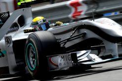 Foto Poster Nico Rosberg in Actie, F1 Mercedes Team 2010