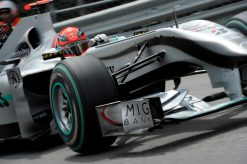 Foto Poster Michael Schumacher in Actie, F1 Mercedes Team 2010