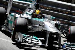 Foto Poster Lewis Hamilton tijdens de GP van Monaco, F1 Mercedes Team 2013