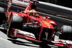 Foto Poster Fernando Alonso in actie tijdens de F1 GP Monaco 2013