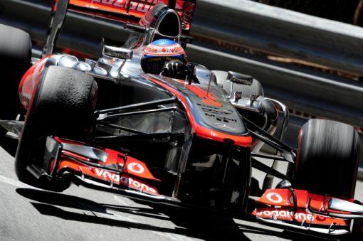 Foto Poster Jenson Button tijdens de GP van Monaco, F1 McLaren Team 2013