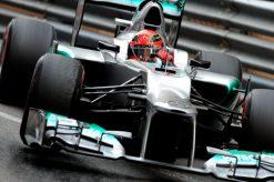 Foto Poster Michael Schumacher in actie tijdens de F1 Grand Prix Monaco 2012
