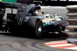 Foto Poster Nico Rosberg in Actie, F1 Mercedes Team 2014