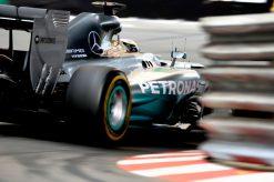 Foto Poster Lewis Hamilton tijdens de GP van Monaco, F1 Mercedes Team 2014
