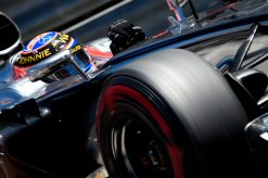 Foto Poster Jenson Button tijdens de GP van Monaco, F1 McLaren Team 2014