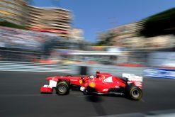 Foto Poster Fernando Alonso in actie tijdens de F1 GP Monaco 2012