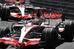 Foto Poster Fernando Alonso in Actie tijdens de F1 Grand Prix Monaco 2007