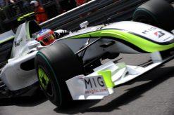 Foto Poster Rubens Barrichello tijdens de GP van Monaco, F1 Brawn GP Team 2009